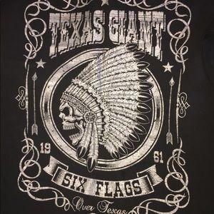 Six Flags Texas Giant Native American T- shirt